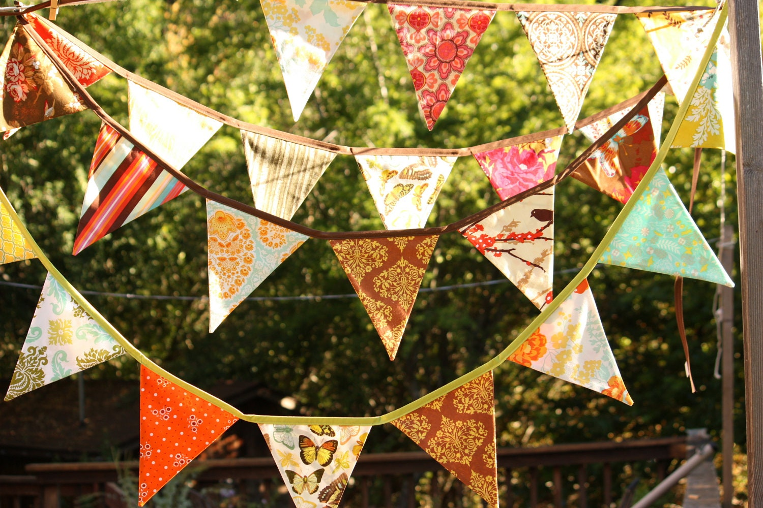 Harvest Bunting Fabric Flag Banner Fall Colors Surprise