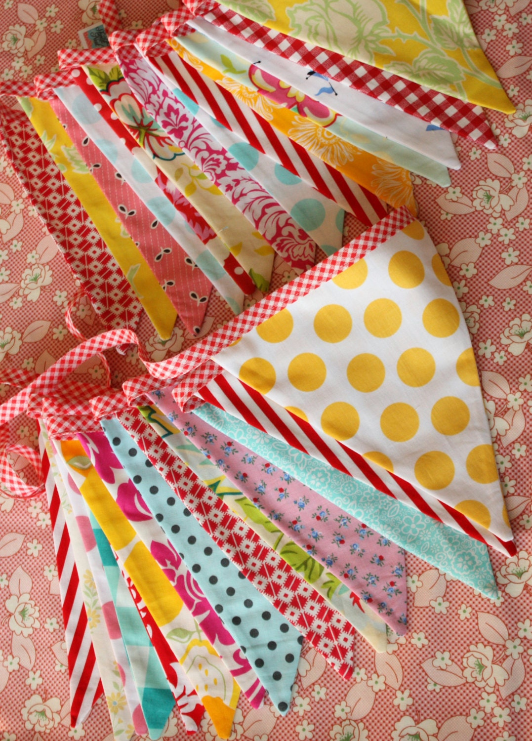 Set Of Two Extra Long Carnival Themed Fabric By