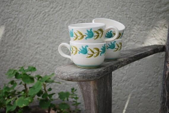 Vintage Franciscan Earthenware Tulip Time Mugs