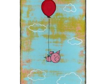 Flying Pig 5x7 Print
