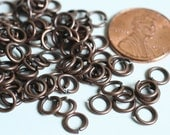 Jump ring antique copper 6mm outer diameter, 18g thick, 100 pcs (item ID YWHS00085AC)