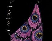 Fuchsia Peacock Necklace