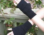 Wrist Warmers Black Cashmere Gothic Pixie