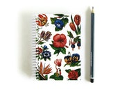 Garden Flowers Notebook - A6 Spiral Bound