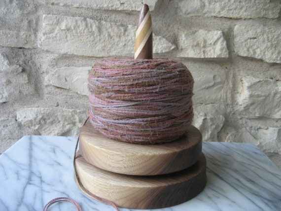 Knit and Spin (Walnut with Segmented Shaft)