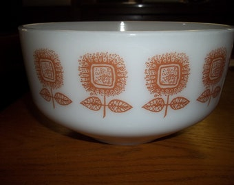 Vintage Butterscotch Flower Bowl