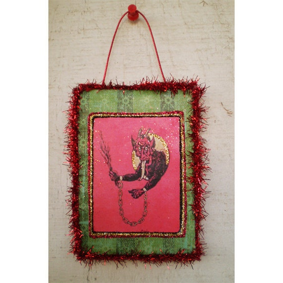Krampus holiday home decoration Yule Christmas vintage style ornament winter home decoration