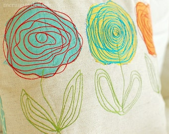 Scribbled Roses - Machine Embroidery Designs