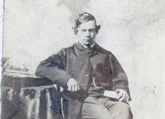 vintage photo RARE Knights Templar Masonic Order Rose Croix CDV signed 1885 Sash Ribbon seller