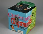 Christmas with the Chipmunks CD Case or Keepsake Box Handmade from Recycled Record