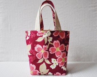 Lunch Bag - Dogwood Bloom in Berry