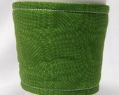 Coffee Cozy, Cup Sleeve, Eco Friendly, Slip-on, Teacher Appreciation, Co-Worker Gift, Bulk Discount: Deep Green Pattern
