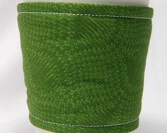Special - Coffee Cozy, Cup Sleeve, Eco Friendly, Slip-on: Deep Green Pattern