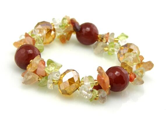 RESERVED  Glass Cluster Beaded Bracelet