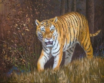 Note Card, Blank, Tiger, Stationery 4 x 5