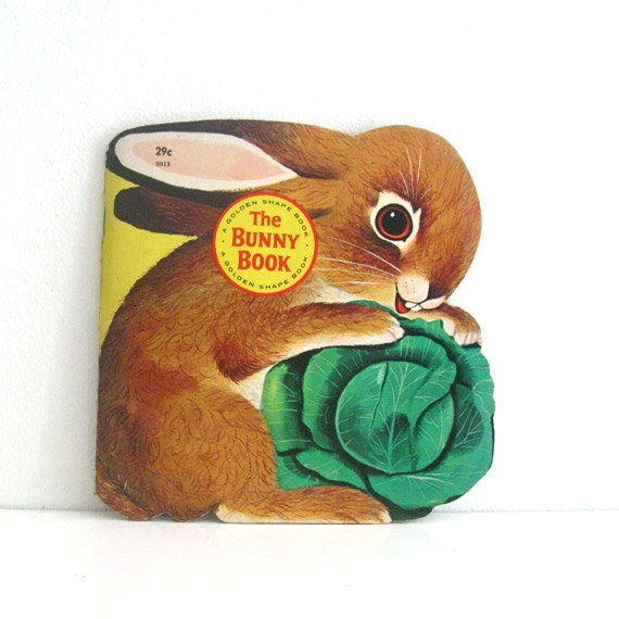 Vintage Golden Shape Childrens Book 1960s The Bunny Book