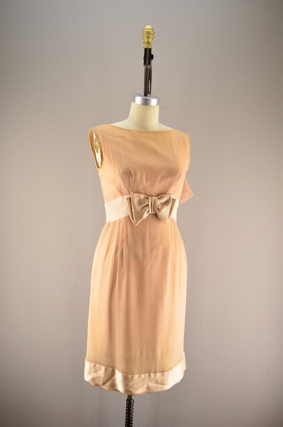 1960s Lilli Diamond dress / Vintage cocktail dress / 60s bridesmaid dress