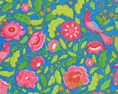 Gypsy Girl - By Lily Ashbury - From Moda - Wishing Well - Blue Birds - 1 Yard - 9.85 Dollars