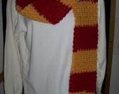 Burgundy and Gold Team or School Color Scarf