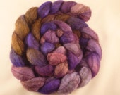 Lavendar and Chocolate -- Heaven on 4 ounces of Mixed BFL and Tussah Silk