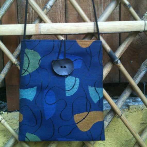 Royal Blue Medium Shoulder Bag