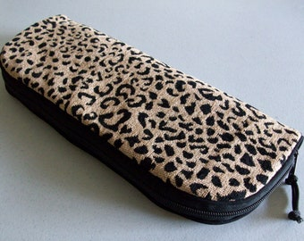 Flat Iron or Curling Iron Zipper Bag - Leopard No. 1