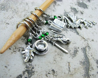 Middle Earth LOTR - Non-Snag Stitch Markers