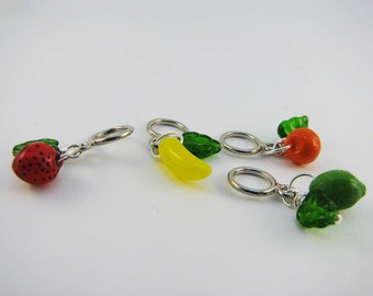 Vintage Fruit Non-Snag Stitch Markers