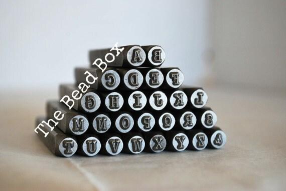 SALE UPPERCASE Courier Typewriter Steel Stamp Set 4mm