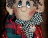 Primitive Eddy the Elf INSTANT DOWNLOAD e-PATTERN #106 Hafair Faap