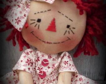 Primitive Raggedy Olde Vintage Annie INSTANT DOWNLOAD PATTERN #135 Hafair
