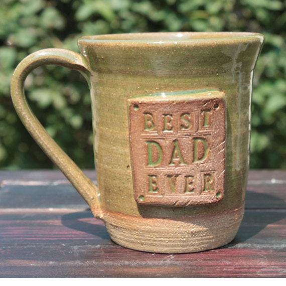 Personalized pottery, Hand made pottery, Best Dad Ever, Ready To Ship