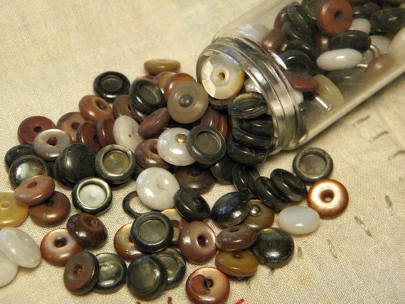 Antique Button Caps/Tops Mother of Pearl