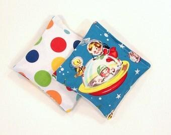 RETRO ROCKETS - Kids Bean Bag Set of 2 - Party Favor - Stocking Stuffer