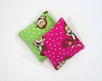 GIGGLE MONKEY - Kids Bean Bag Set of 2 - Party Favor - Stocking Stuffer -Party Favor - Kids