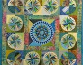 Art Quilt Compass Points quilted wall hanging, fiber art - Serenstitches
