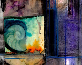 Nature Voices ... No.9 ... Original colorful mixed media art painting by Kathy Morton Stanion EBSQ