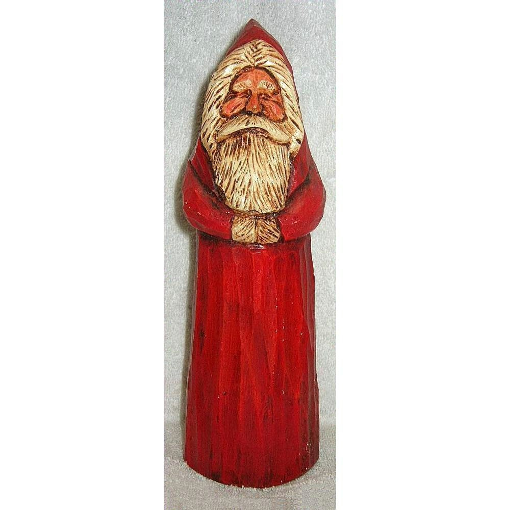 Vintage wooden santa claus hand carved painted torberg