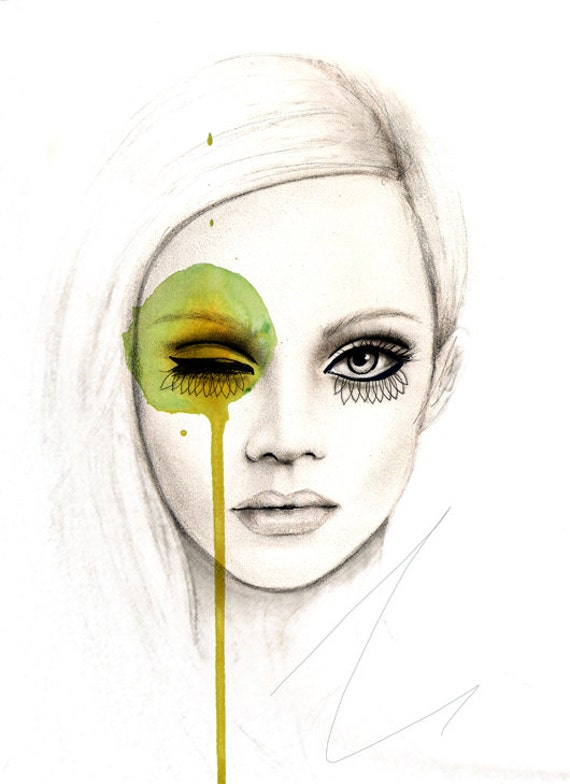 Fused  - Fashion Illustration Art Print