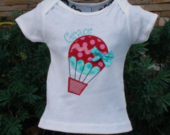 Hot Air Balloon Shirt, Hot air Balloon Birthday Shirt, Balloon Shirt, Balloon birthday shirt, Girl Birthday shirt, Sew Cute Creations