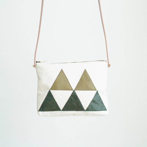 Bag - leather triangles