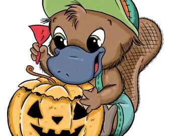 Bikkie with Pumpkin (DIGI STAMP)