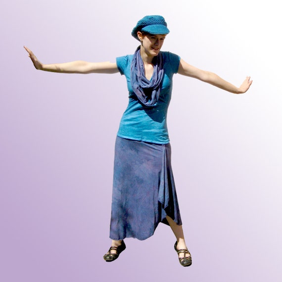 Custom Lotus Skirt - Hand Dyed Cotton S-M-L-XL