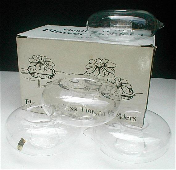Blown Glass Floating Flower Holder Set Of 4 By Studiostebbylee