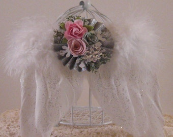 Shabby Chic Angel Wings - Ornament