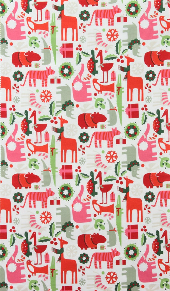 2 - D Zoo Yuletide by Alexander Henry Fabric by the Yard , Designer Fabric