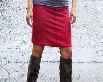 Organic Warrior Pencil Short Skirt (NC Grown Organic Cotton) - organic skirt: