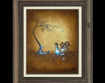 Wizard of Oz   Whimsical Fairytale Fantasy Art Print -- He Said Oil Can -  Kids Wall Art