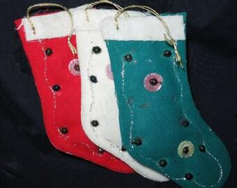 Vintage Christmas Sock Ornaments