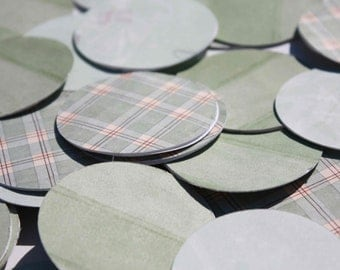 Green Paper Circle Garland - Birthday Party Decoration